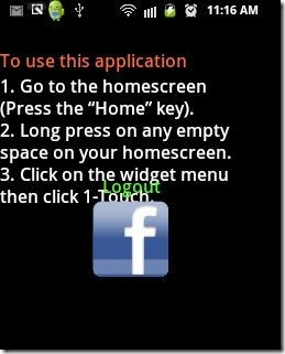 One Touch Facebook App