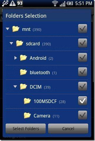 Photo FX Live Wallpaper App options