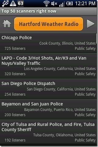 Scanner Radio Station list