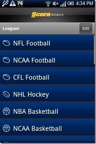 ScoreMobile Leagues