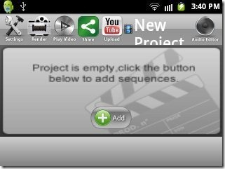 Slideshow Maker adding images