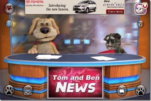 Talking Tom & Ben News Falling chair