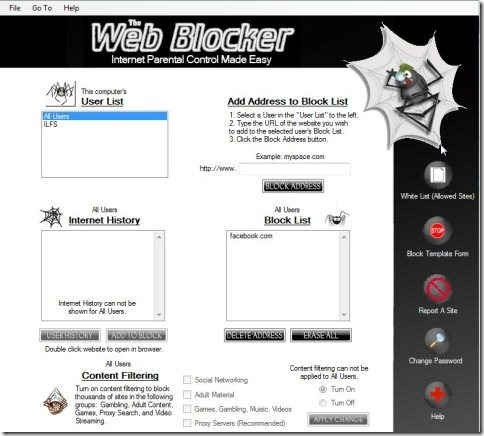 The Web Blocker 001