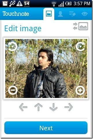 Touchnote Postcards App photo upload