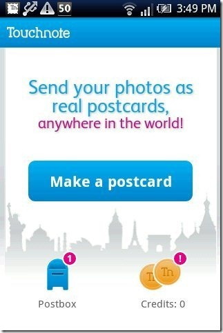 Touchnote Postcards App
