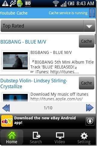 YouTube Cache App