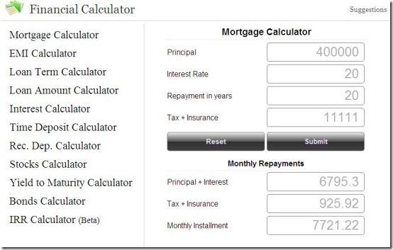 financial calculator 2