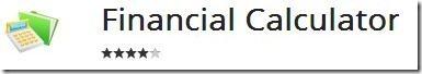 financial calculator