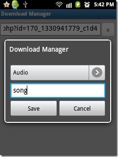 Android Download Manager File Type