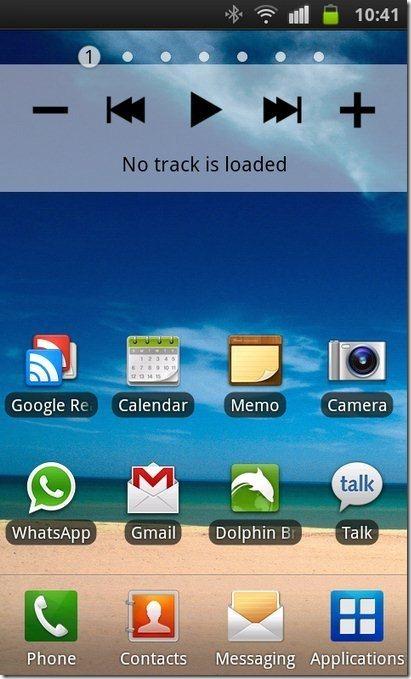 Android Media Control Widget