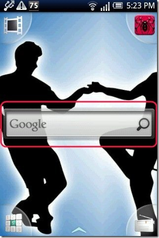 Android Widget On Screen