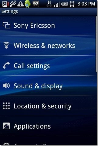 Android Wireless Option