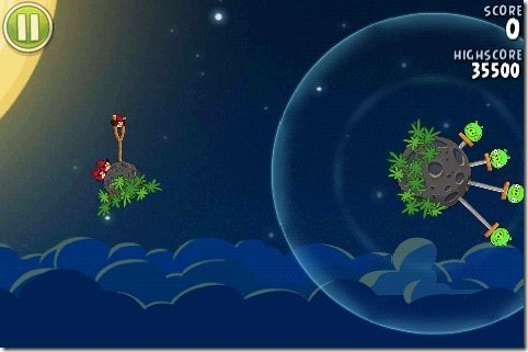 Angry Birds Space Game Interface