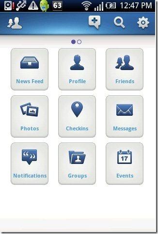 FriendCaster App Options