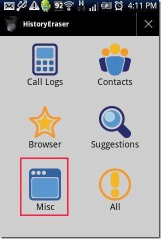 HistoryEraser App