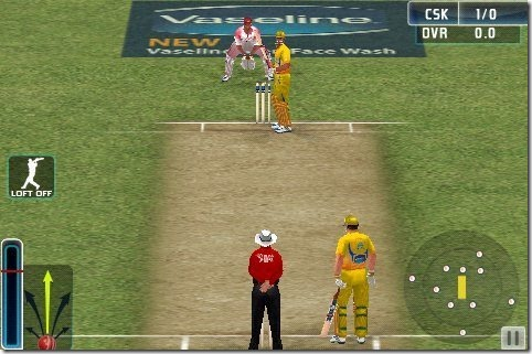 IPL Cricket Game interface