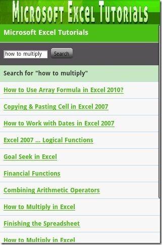 Microsoft Excel Tutorial App