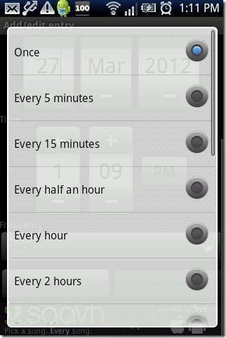 SMS Scheduler Frequency