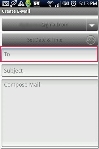 Schedule Email App Mail create