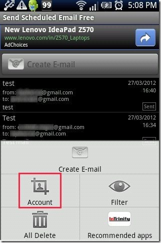 Schedule Email App