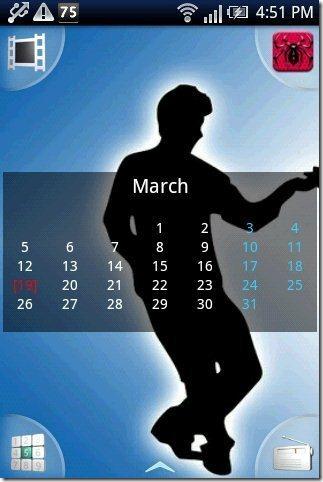Wall Calendar Widget