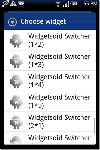 Widgetsoid2.X Widget List