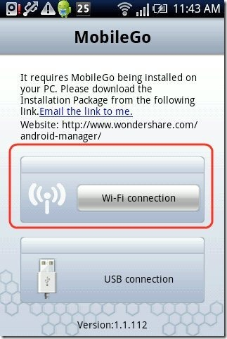 Wondershare MobileGo App