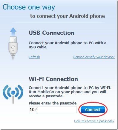 Wondershare MobileGo PC Client Connect