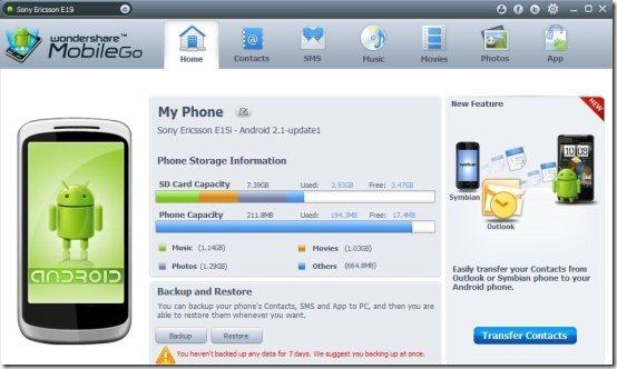 Wondershare MobileGo PC Client