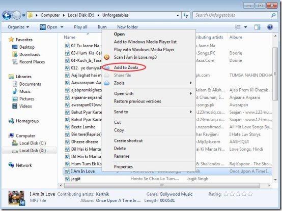 Zoolz PC Client option
