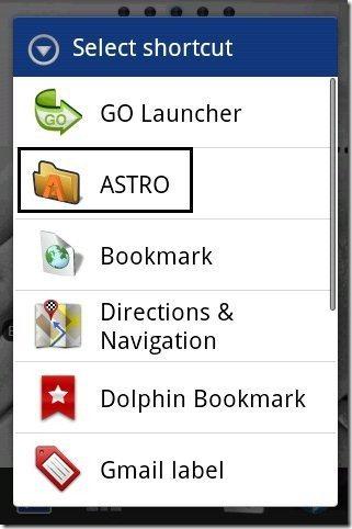 ASTRO option