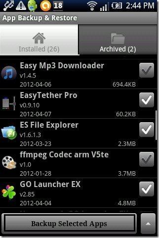 App Backup & Restore app
