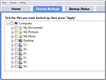 BuddyBackup Choosing