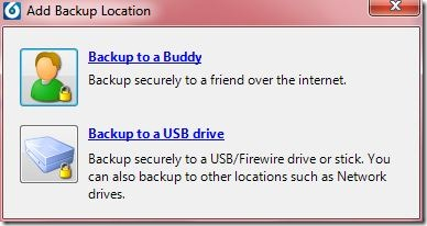 BuddyBackup Modes