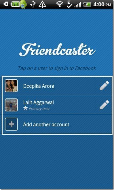 FriendCaster App