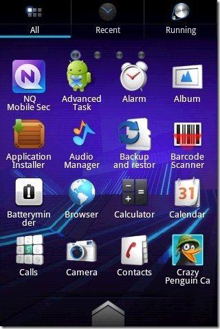 Go Launcher EX Sorted apps