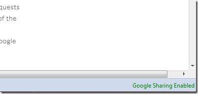 GoogleSharing Status