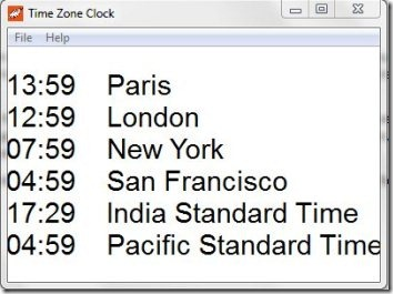 NTP Time Zone Clock 001