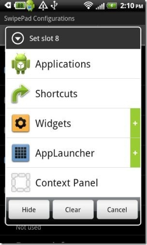 SwipePad Options