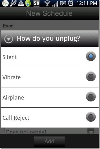 Unplug & Reconnect App Methods