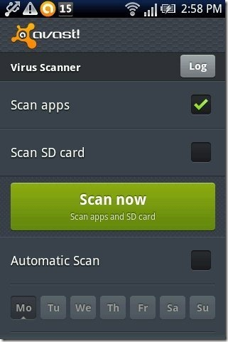 avast Mobile Security App Scanner