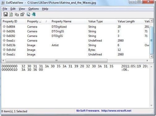 exif data viewer