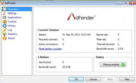 AdFender defualt