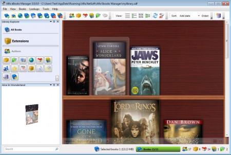 Alfa eBooks default window