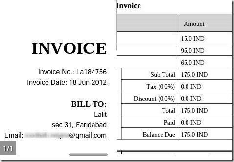 AndInvoice Creation