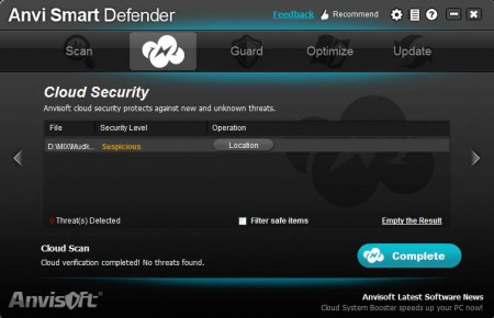 Anvi Smart Defender cloud scan