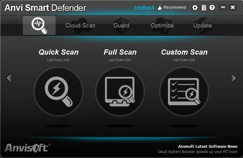 Anvi Smart Defender default window