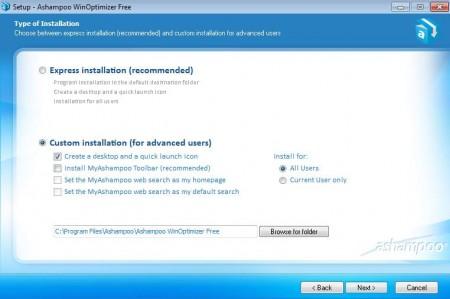 Ashampoo WinOptimizer install