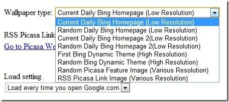 Bing Background Extension Settings