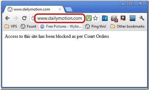 DailyMotion Blocked India